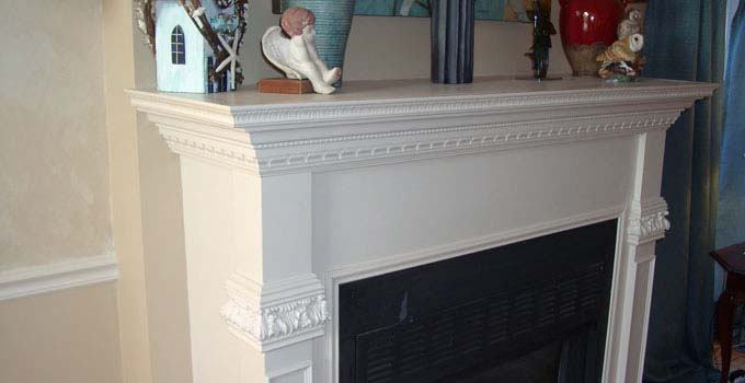 Kelley Carpentry can customize a wooden fireplace