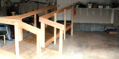 Stay in your home longer with a handicapped access ramp.