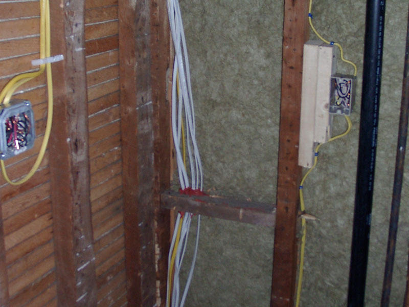 Adding a new bathroom to the home - Adding electrical. Kelley Carpentry only uses qualified, licensed electricians