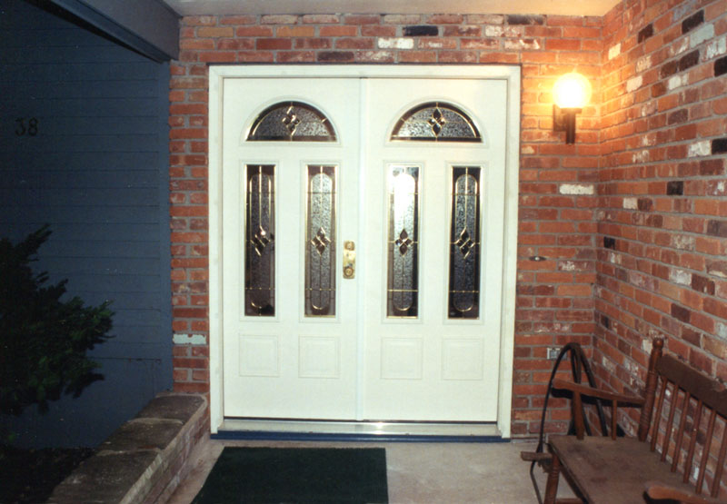 New double front door installed and ready for new guests.