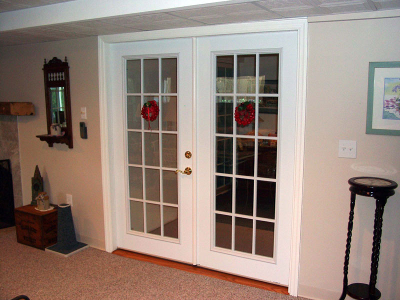 Interior french doors provide double the width of a regular door and more convenience